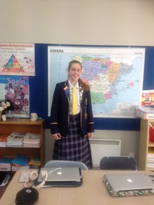 Abby Croot Spanish Speech Competition