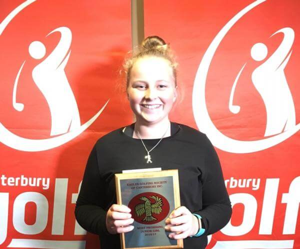Maddie May With Golf Award